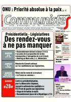 Journal CommunisteS n°663 du 11 janvier 2016